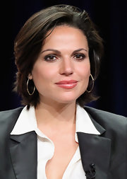 Lana Parrilla was fresh-faced at the TCA Tour with her short wavy cut.
