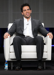 Eli Roth looked so sophisticated in a charcoal suit.