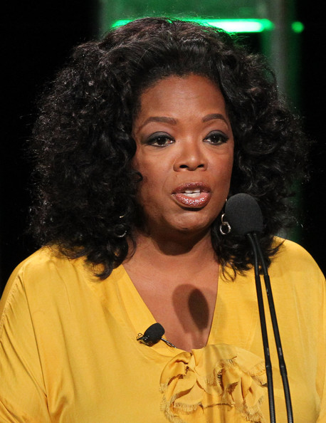 Oprah Winfrey attended the 2011 Summer TCA Tour wearing her hair in voluminous curls.