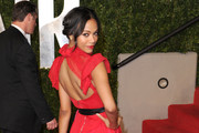 Zoe Saldana Dons Prabal Gurung to Vanity Fair Oscar Party