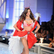 2011—Miranda Kerr Looks Romantic in Red and Ballerina Shoes