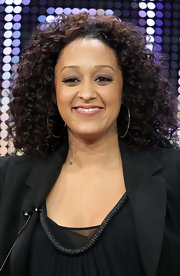 Tia Mowry polished opted for bouncy curls at the Winter TCA Tour. Her ringlet curls were a nice change from the usual straight hairstyle.