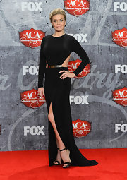 Carmen made cutouts so elegant in her black long-sleeve gown at the American Country Awards.