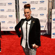 Faith Evans' menswear-inspired red carpet look