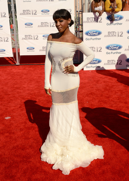 Dawn Richard see-through skirt