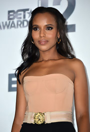 Kerry Washington styled her hair in a sophisticated half-up 'do for the BET Awards.