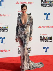Roselyn Sanchez flaunted her sexy silhouette at the 2012 Billboard Mexican Music Awards in this daring snakeskin print gown complete with a mermaid train.