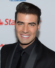 Jencarlos Canela's slicked-back undercut highlighted his excellent bone structure at the 2012 Billboard Mexican Music Awards.