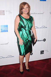 Caroline Manzo was a cool and elegant sight in a printed green sheath at the 2012 Couture Council.