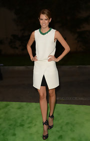 Cody took a creative approach to the red carpet in this origami dress on the Environmental Media Awards green carpet.