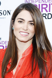Nikki Reed attended the 2012 Film Independent Filmmaker Grant and Spirit Awards Nominees Brunch wearing her hair super-shiny and straight.