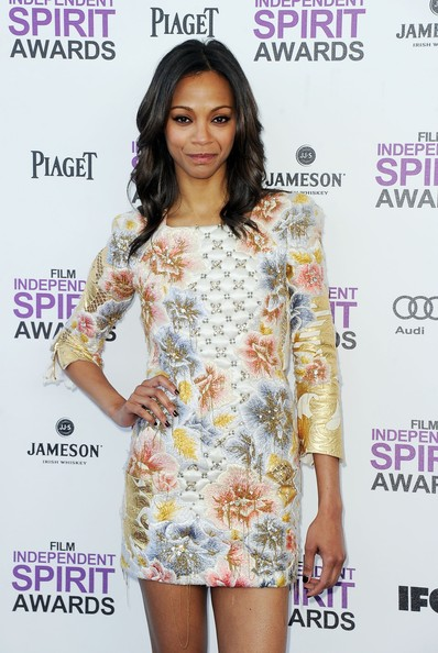 More Pics of Zoe Saldana Cocktail Dress (11 of 29) - Zoe Saldana Lookbook - StyleBistro