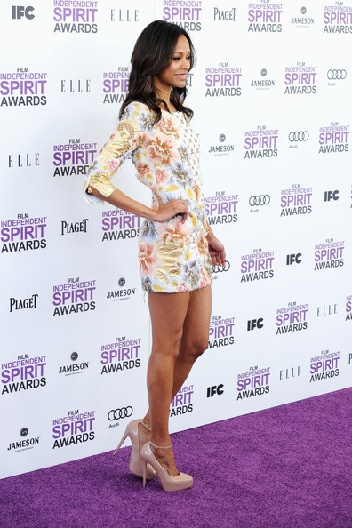 More Pics of Zoe Saldana Cocktail Dress (15 of 29) - Zoe Saldana Lookbook - StyleBistro