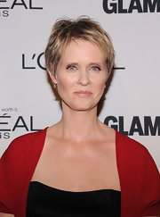 Cynthia Nixon showed off her bone structure with this layered pixie cut at the Glamour Women of the Year Awards.