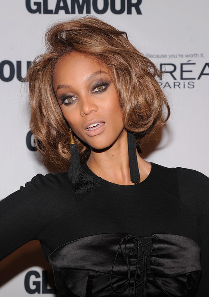 More Pics of Tyra Banks Short Wavy Cut (2 of 5) - Tyra Banks Lookbook - StyleBistro