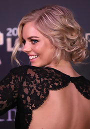 Samara Weaving wowed the crowd of the Logie Awards with her elegant bobby pinned curly  updo.