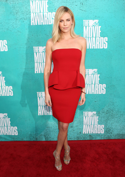 Charlize Theron's Red Hot Lanvin Dress