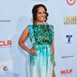 Judy Reyes in Frilly Blue-Green