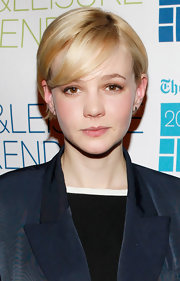 Carey Mulligan attended the 2012 'New York Times' Arts & Leisure Weekend event wearing her short blond hair sleek with side-swept bangs.