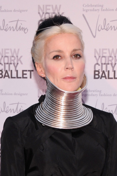 More Pics of Daphne Guinness Evening Dress (2 of 8) - Daphne Guinness Lookbook - StyleBistro [hair,face,hairstyle,neck,blond,chin,fashion,forehead,ear,fashion accessory,david h. koch theater,new york city,lincoln center,new york city ballet fall gala,daphne guinness]