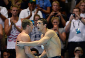 Tyler Clary and Michael Phelps Photo
