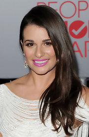 Lea Michele wore her hair sleek, straight and side-swept at the 2012 People's Choice Awards.