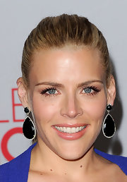 Busy Philipps wore a sheer shimmering peachy-pink lipgloss at the 2012 People's Choice Awards.