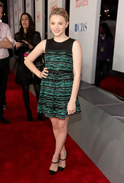 Chloe Moretz wore a casual dress on the red carpet for the People's Choice Awards and paired the piece with Mary Janes.