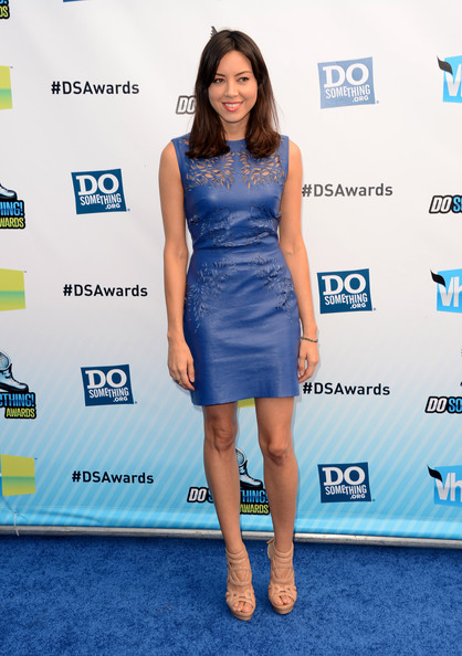More Pics of Aubrey Plaza Leather Dress (1 of 9) - Aubrey Plaza Lookbook - StyleBistro