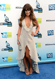 Lea Michele was an ethereal beauty at the Do Something Awards in this ruffled ecru dress.