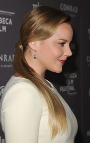 Abbie Cornish arrived at the 2012 Tribeca Film Festival wearing her shiny hair in a lovely low wrapped ponytail.
