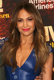 Jennifer Lopez opted for a vivid hot pink lipstick during the 2012 Winter TCA Tour.