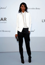 It might take the powers of a supermodel like Liya Kebede to make satin harem slacks like these look so freakin' fab.