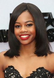 Gabby Douglas showed off a sleek and shiny shoulder-length 'do at the 2013 BET Awards.
