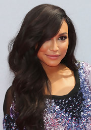 Naya Rivera pulled back her hair into a cascading wavy side sweep at the BET Awards.