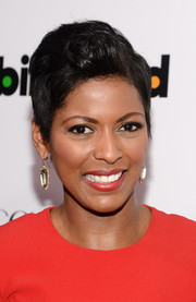 Tamron Hall wore her short hair teased with a side part for the Billboard Women in Music event.