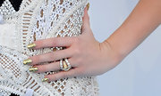 Gold sparkly nails were a totally glamorous and bold choice for Miley Cyrus at the Billboard Music Awards.