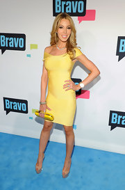 Lisa Hochstein's yellow bandage dress was a sleek and sexy choice for the Real Housewife.