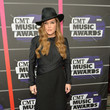 Lisa Marie Presley in Black at the CMT Music Awards