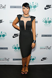 Bridget Kelly rocked a futuristic dress with pointed sleeves and an illusion neckline.