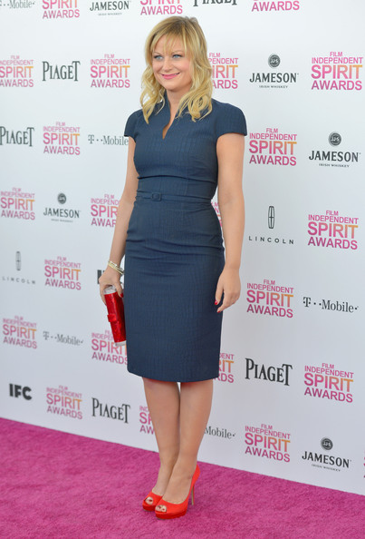 More Pics of Amy Poehler Peep Toe Pumps (1 of 28) - Amy Poehler Lookbook - StyleBistro
