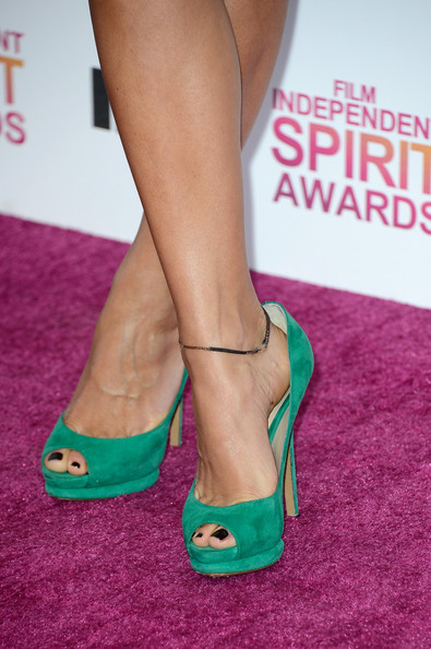 More Pics of Rashida Jones Peep Toe Pumps (1 of 21) - Peep Toe Pumps Lookbook - StyleBistro