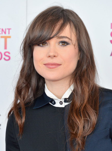 More Pics of Ellen Page Long Wavy Cut with Bangs (1 of 11) - Long Wavy Cut with Bangs Lookbook - StyleBistro