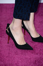 Sofia Coppola topped off her look at the Independent Spirit Awards with a pair of black slingbacks.