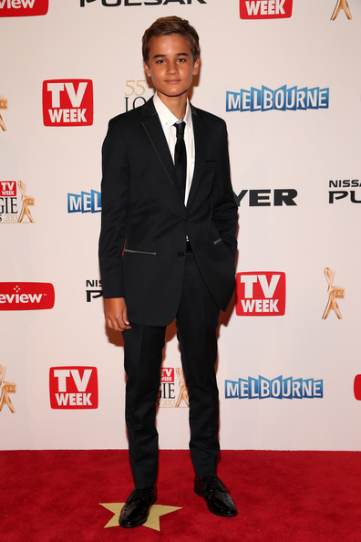 Will McDonald chose a classic two-button suit with a notch lapel for his look at the 2013 Logie Awards.