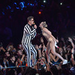 Miley Cyrus in a patent bikini at the VMAs.