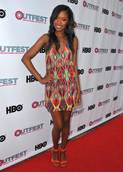 Xosha Roquemore's fun printed dress was a youthful pick for the star.