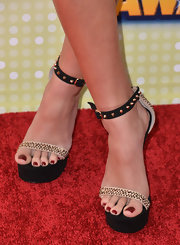 Madison Pettis chose a pair of studded heels for her cool and edgy red carpet look at the Radio Disney Music Awards.