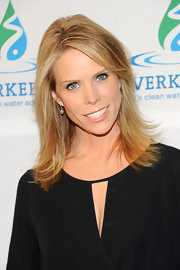 Cheryl Hines kept her beauty look simple and natural with a pale pink lip gloss.