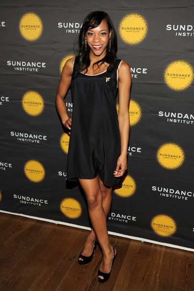 Nikki James chose a basic LBD for her evening look at the Sundance Institute Theatre Program Benefit.